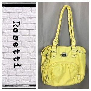 Rosetti yellow leather shoulder bag